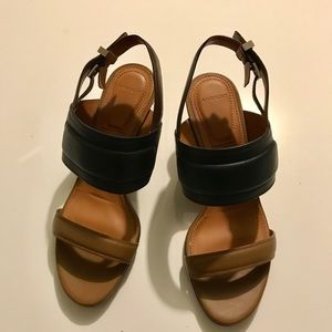 Givenchy Shoes - Givenchy black and brown sandals